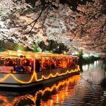 富山観光遊覧船(松川遊覧船)夜桜クルーズ