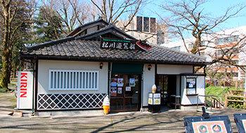富山観光の定番・松川遊覧船乗り場、松川茶屋
