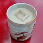 富山観光遊覧船のりば「松川茶屋」の冷やし甘酒(新村こうじみそ商店)