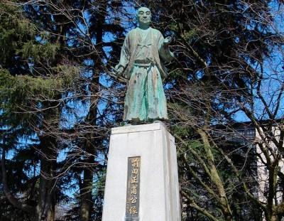 富山藩2代藩主 前田正甫(まさとし)公の銅像