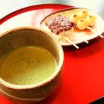 富山観光遊覧船のりば「松川茶屋」のお抹茶セット(団子)