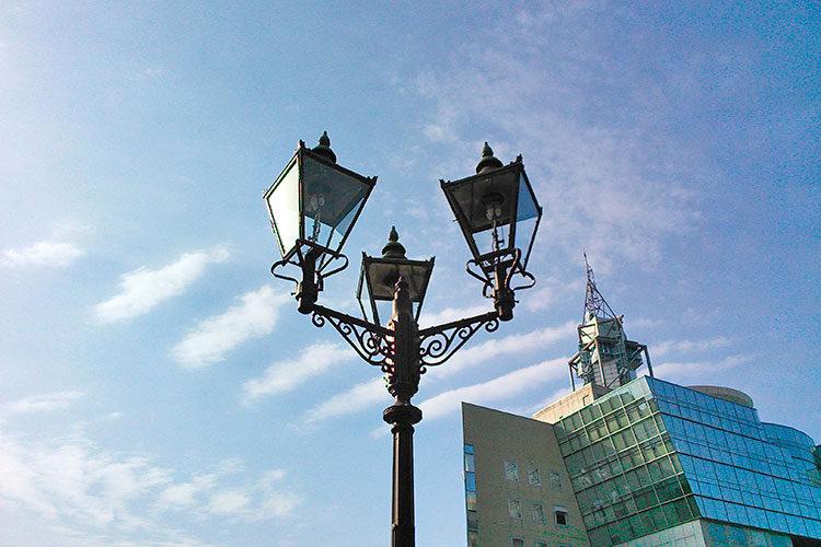 松川のガス灯(復元)